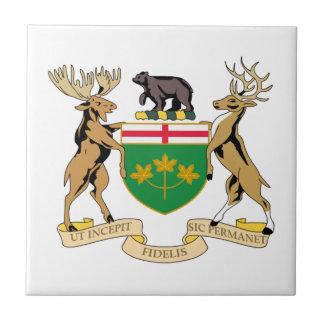 Escudo de armas de Ontario (Canadá) Azulejo Cuadrado Pequeño