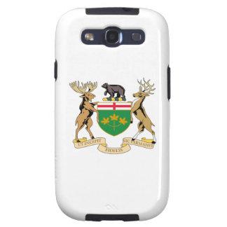 Escudo de armas de Ontario (Canadá) Galaxy S3 Protectores