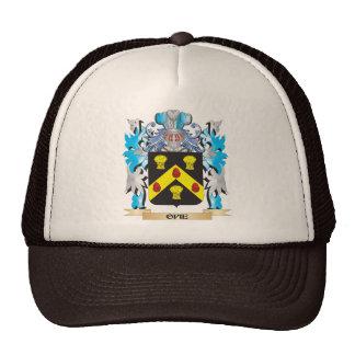 Escudo de armas de Opie - escudo de la familia Gorra