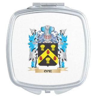 Escudo de armas de Opie - escudo de la familia Espejo Para El Bolso