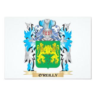 Escudo de armas de O'Reilly - escudo de la familia Invitación 12,7 X 17,8 Cm