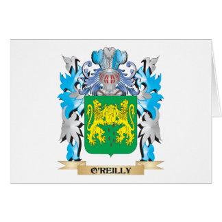 Escudo de armas de O'Reilly - escudo de la familia Tarjeta