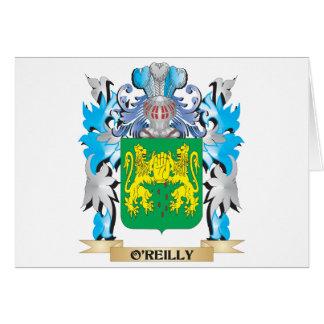Escudo de armas de O'Reilly - escudo de la familia Felicitación