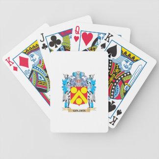 Escudo de armas de oro - escudo de la familia cartas de juego