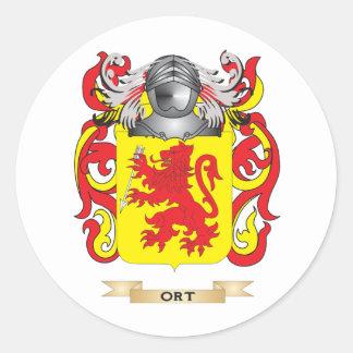 Escudo de armas de Ort escudo de la familia Pegatina Redonda