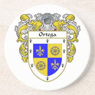 Escudo de armas de Ortega/escudo de la familia Posavasos Diseño