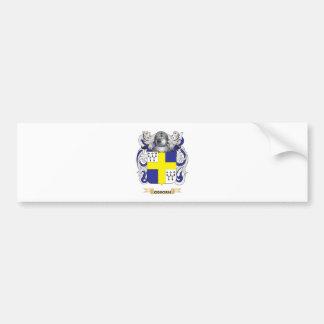Escudo de armas de Osborn (escudo de la familia) Etiqueta De Parachoque