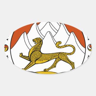 Escudo de armas de Osetia del Sur Pegatina Ovalada