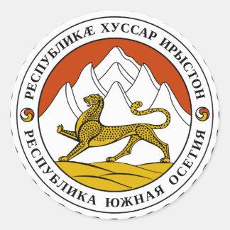 Escudo de armas de Osetia del Sur Pegatina Redonda