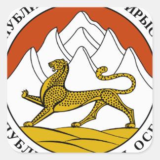Escudo de armas de Osetia del Sur Pegatina Cuadrada