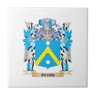 Escudo de armas de Oudin - escudo de la familia Azulejo Cerámica