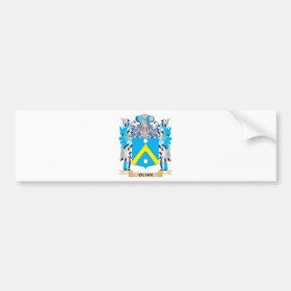 Escudo de armas de Oudin - escudo de la familia Pegatina De Parachoque