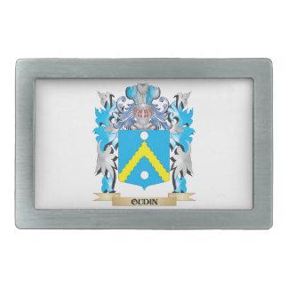 Escudo de armas de Oudin - escudo de la familia Hebilla Cinturon Rectangular