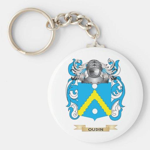 Escudo de armas de Oudin (escudo de la familia) Llavero