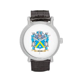 Escudo de armas de Oudin - escudo de la familia Reloj