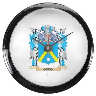 Escudo de armas de Oudin - escudo de la familia Relojes Aqua Clock