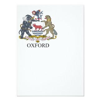 """Escudo de armas de Oxford Invitación 5.5"""" X 7.5"""""""