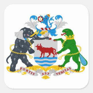 Escudo de armas de Oxford Pegatina Cuadrada