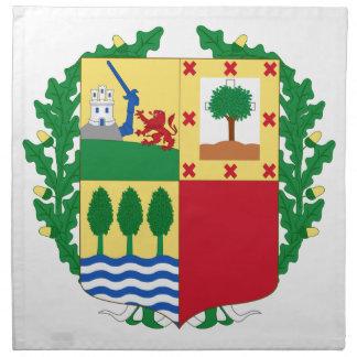 Escudo de armas de Pais Vasco España Servilleta De Papel
