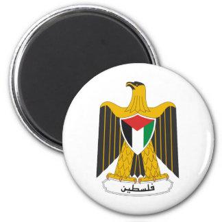 Escudo de armas de Palestina Imán Redondo 5 Cm