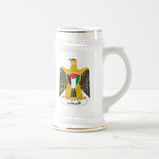 Escudo de armas de Palestina Jarra De Cerveza