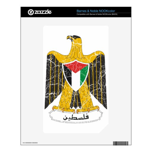 Escudo de armas de Palestina NOOK Color Calcomanía