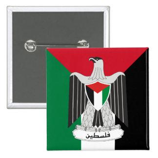 escudo de armas de Palestina Pin Cuadrado