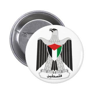 escudo de armas de Palestina Pin Redondo De 2 Pulgadas