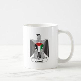 Escudo de armas de Palestina Taza Básica Blanca