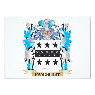Escudo de armas de Pankhurst - escudo de la Invitación 12,7 X 17,8 Cm