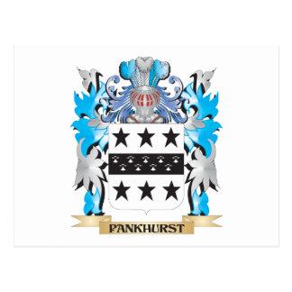 Escudo de armas de Pankhurst - escudo de la Postal