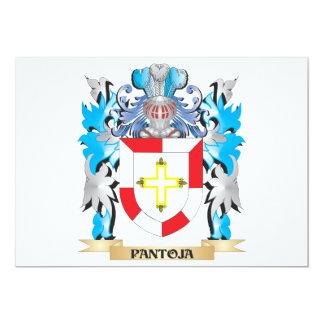 """Escudo de armas de Pantoja - escudo de la familia Invitación 5"""" X 7"""""""