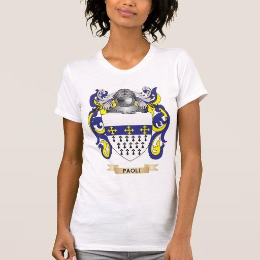 Escudo de armas de Paoli (escudo de la familia) Camisetas