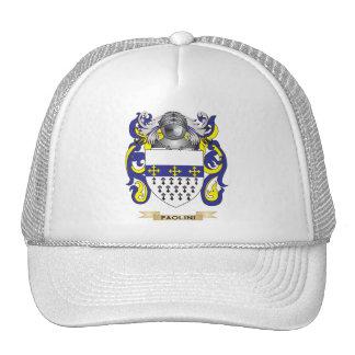 Escudo de armas de Paolini (escudo de la familia) Gorro