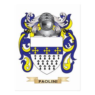 Escudo de armas de Paolini (escudo de la familia) Postal