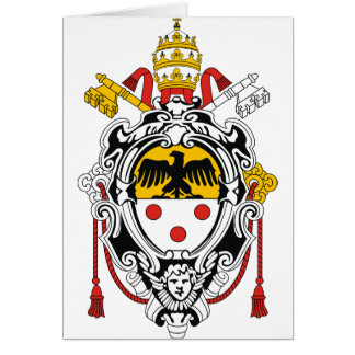 Escudo de armas de papa Pío XI Tarjeta Pequeña