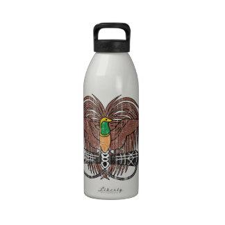 Escudo de armas de Papúa Nueva Guinea Botella De Agua