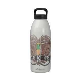Escudo de armas de Papúa Nueva Guinea Botella De Agua Reutilizable