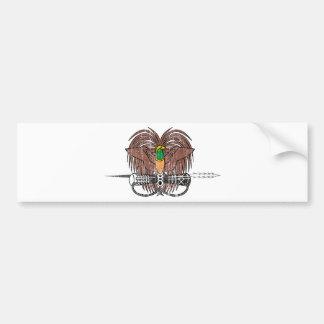 Escudo de armas de Papúa Nueva Guinea Pegatina Para Auto
