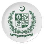 Escudo de armas de Paquistán Plato
