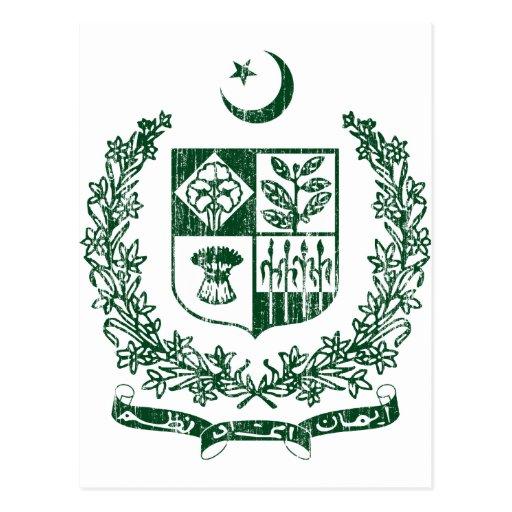 Escudo de armas de Paquistán Postales