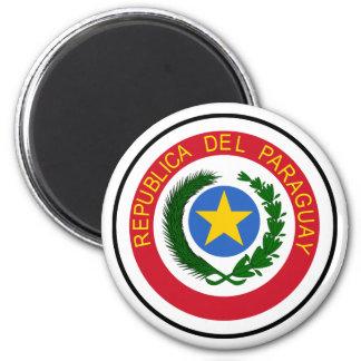 Escudo de armas de Paraguay Iman Para Frigorífico
