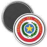 Escudo de armas de Paraguay Imán Redondo 7 Cm
