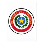 Escudo de armas de Paraguay Postales