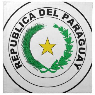 Escudo de armas de Paraguay Servilleta Imprimida
