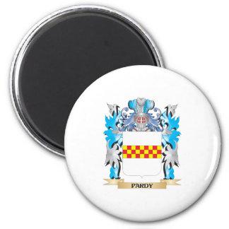 Escudo de armas de Pardy - escudo de la familia Imán Redondo 5 Cm
