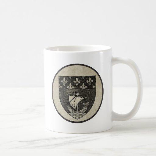 Escudo de armas de París Tazas De Café