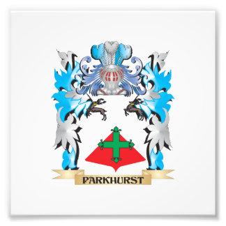 Escudo de armas de Parkhurst - escudo de la Impresión Fotográfica