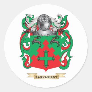 Escudo de armas de Parkhurst (escudo de la Pegatina Redonda