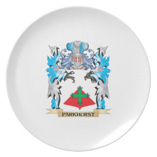 Escudo de armas de Parkhurst - escudo de la Platos De Comidas